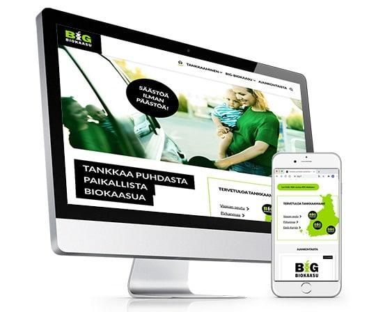 Brändäys viimeisteltiin ilmeen mukaisilla ja saavutettavilla verkkosivuilla.
